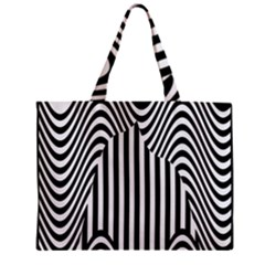 Stripe Abstract Stripped Geometric Background Zipper Mini Tote Bag
