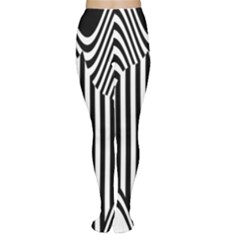 Stripe Abstract Stripped Geometric Background Women s Tights
