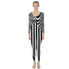 Stripe Abstract Stripped Geometric Background Long Sleeve Catsuit