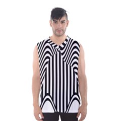 Stripe Abstract Stripped Geometric Background Men s Basketball Tank Top