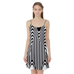 Stripe Abstract Stripped Geometric Background Satin Night Slip