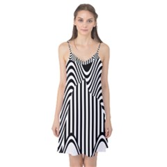 Stripe Abstract Stripped Geometric Background Camis Nightgown
