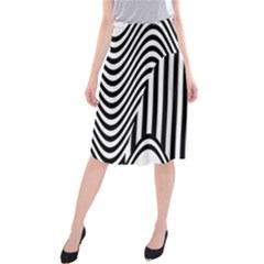 Stripe Abstract Stripped Geometric Background Midi Beach Skirt