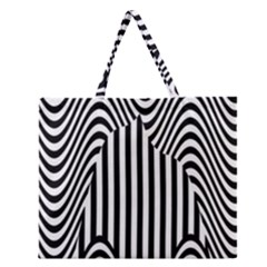 Stripe Abstract Stripped Geometric Background Zipper Large Tote Bag