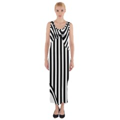 Stripe Abstract Stripped Geometric Background Fitted Maxi Dress