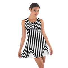 Stripe Abstract Stripped Geometric Background Cotton Racerback Dress