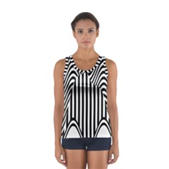 Stripe Abstract Stripped Geometric Background Women s Sport Tank Top