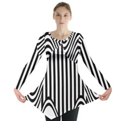 Stripe Abstract Stripped Geometric Background Long Sleeve Tunic