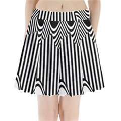 Stripe Abstract Stripped Geometric Background Pleated Mini Skirt