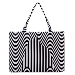 Stripe Abstract Stripped Geometric Background Medium Zipper Tote Bag