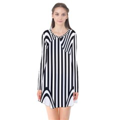 Stripe Abstract Stripped Geometric Background Flare Dress