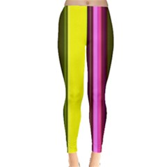 Stripes Abstract Background Pattern Leggings