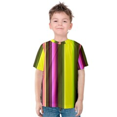Stripes Abstract Background Pattern Kids  Cotton Tee