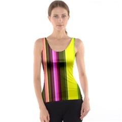 Stripes Abstract Background Pattern Tank Top