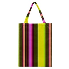 Stripes Abstract Background Pattern Classic Tote Bag