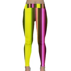 Stripes Abstract Background Pattern Classic Yoga Leggings