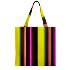 Stripes Abstract Background Pattern Zipper Grocery Tote Bag