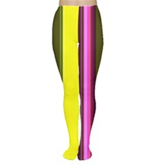 Stripes Abstract Background Pattern Women s Tights