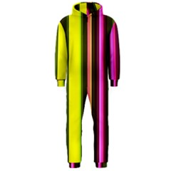 Stripes Abstract Background Pattern Hooded Jumpsuit (men)