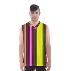 Stripes Abstract Background Pattern Men s Basketball Tank Top