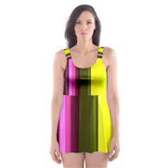 Stripes Abstract Background Pattern Skater Dress Swimsuit