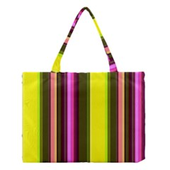 Stripes Abstract Background Pattern Medium Tote Bag