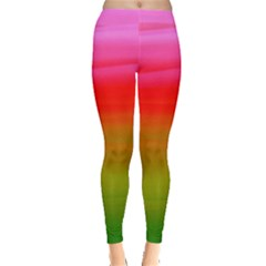 Watercolour Abstract Paint Digitally Painted Background Texture Leggings
