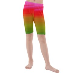 Watercolour Abstract Paint Digitally Painted Background Texture Kids  Mid Length Swim Shorts