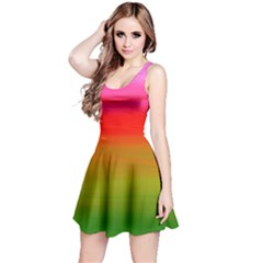 Watercolour Abstract Paint Digitally Painted Background Texture Reversible Sleeveless Dress