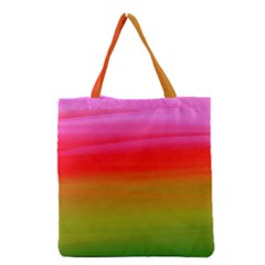 Watercolour Abstract Paint Digitally Painted Background Texture Grocery Tote Bag