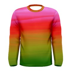 Watercolour Abstract Paint Digitally Painted Background Texture Men s Long Sleeve Tee