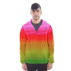 Watercolour Abstract Paint Digitally Painted Background Texture Hooded Wind Breaker (men)