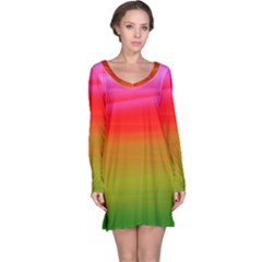 Watercolour Abstract Paint Digitally Painted Background Texture Long Sleeve Nightdress