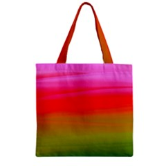 Watercolour Abstract Paint Digitally Painted Background Texture Zipper Grocery Tote Bag