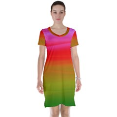 Watercolour Abstract Paint Digitally Painted Background Texture Short Sleeve Nightdress