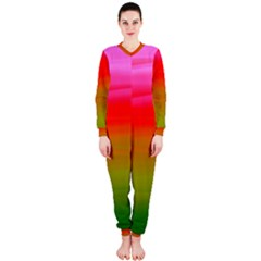 Watercolour Abstract Paint Digitally Painted Background Texture Onepiece Jumpsuit (ladies)