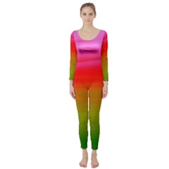 Watercolour Abstract Paint Digitally Painted Background Texture Long Sleeve Catsuit
