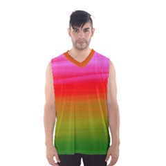 Watercolour Abstract Paint Digitally Painted Background Texture Men s Basketball Tank Top