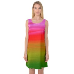 Watercolour Abstract Paint Digitally Painted Background Texture Sleeveless Satin Nightdress