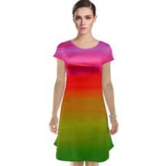 Watercolour Abstract Paint Digitally Painted Background Texture Cap Sleeve Nightdress