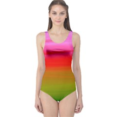 Watercolour Abstract Paint Digitally Painted Background Texture One Piece Swimsuit