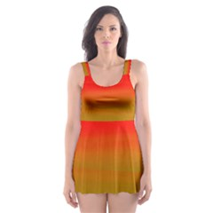Watercolour Abstract Paint Digitally Painted Background Texture Skater Dress Swimsuit