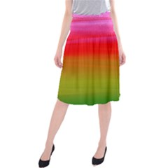 Watercolour Abstract Paint Digitally Painted Background Texture Midi Beach Skirt