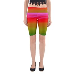Watercolour Abstract Paint Digitally Painted Background Texture Yoga Cropped Leggings