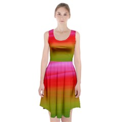 Watercolour Abstract Paint Digitally Painted Background Texture Racerback Midi Dress