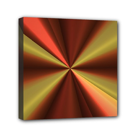 Copper Beams Abstract Background Pattern Mini Canvas 6  X 6