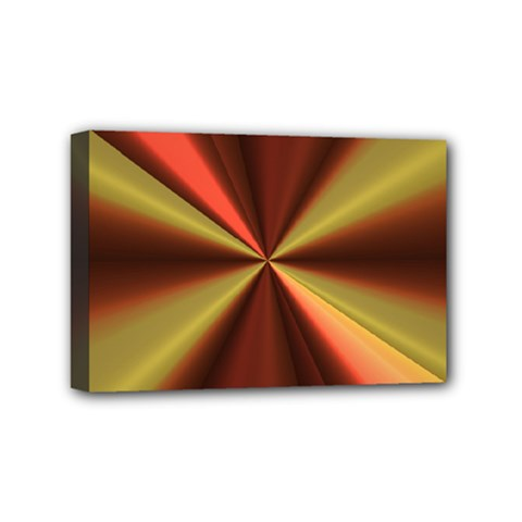 Copper Beams Abstract Background Pattern Mini Canvas 6  X 4