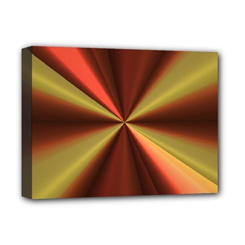Copper Beams Abstract Background Pattern Deluxe Canvas 16  x 12