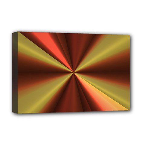 Copper Beams Abstract Background Pattern Deluxe Canvas 18  x 12