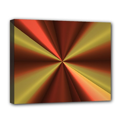 Copper Beams Abstract Background Pattern Deluxe Canvas 20  X 16